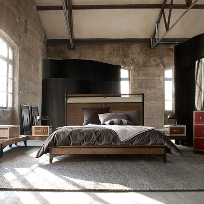69800385854 Ideas for decorating your industrial style bedroom