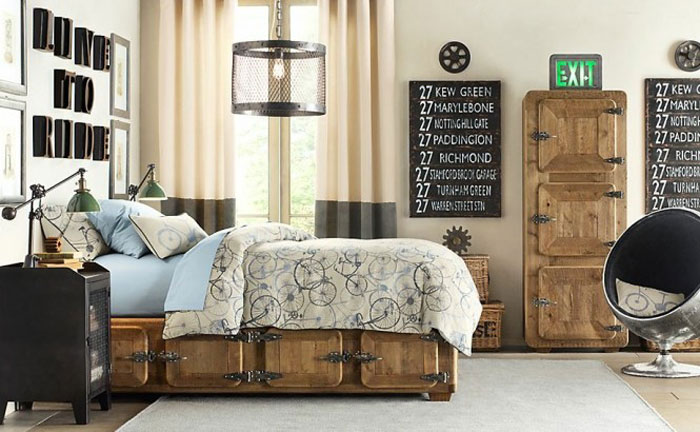 69800400089 Ideas for decorating your industrial style bedroom