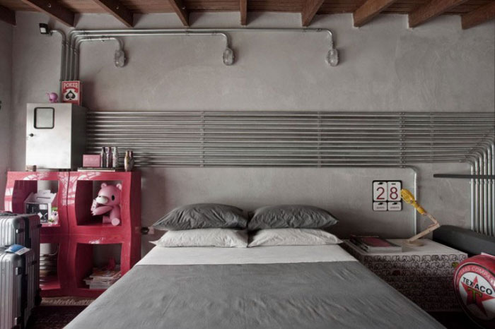 69800442559 Ideas for decorating your industrial style bedroom