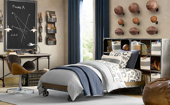 69800481385 Ideas for decorating your industrial style bedroom