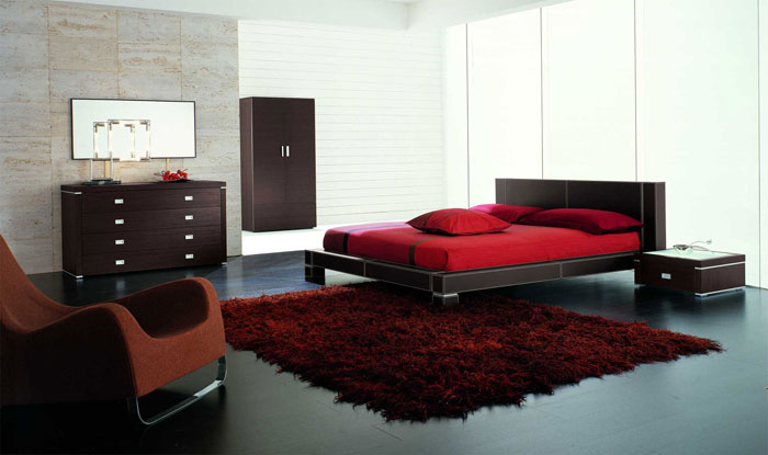 68962238788 ideas to decorate your bedroom with red, white and black