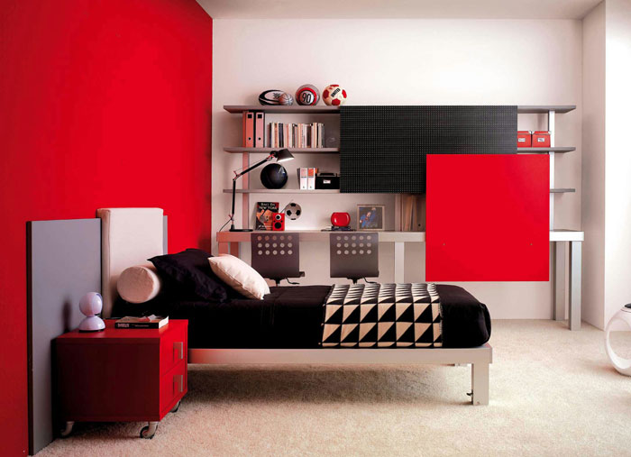 68962233100 Ideas to decorate your bedroom with red, white and black