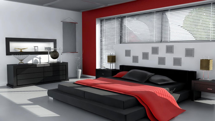 68962342384 ideas to decorate your bedroom with red, white and black