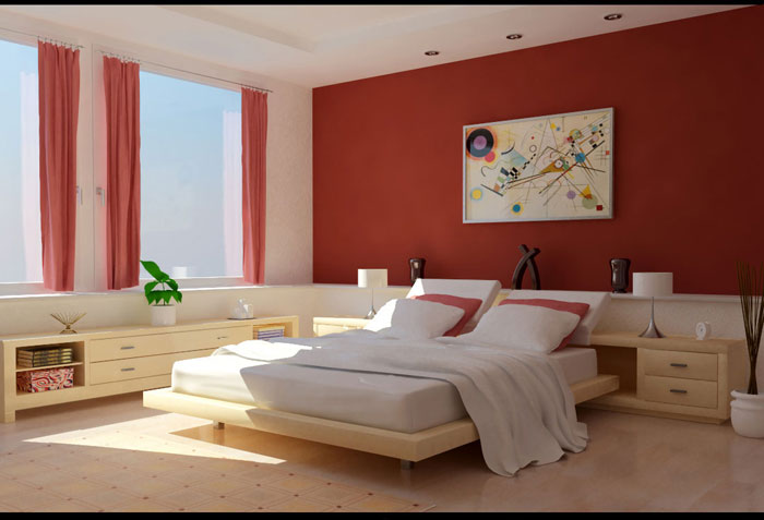 68962305653 Ideas to decorate your bedroom with red, white and black