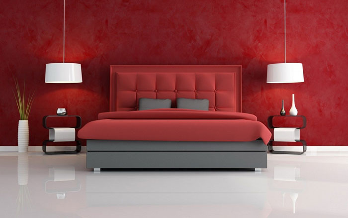 68962317894 ideas to decorate your bedroom with red, white and black