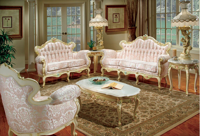 65796804628 The classic and stylish style of Victorian living rooms