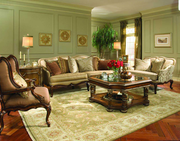 65796904427 The classic and stylish style of Victorian living rooms