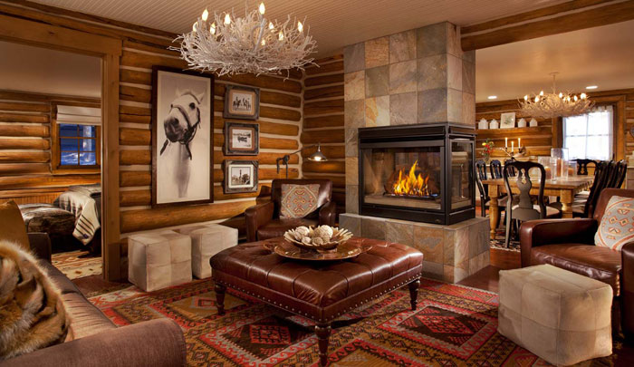 64856166717 The beautiful interior of rustic living rooms