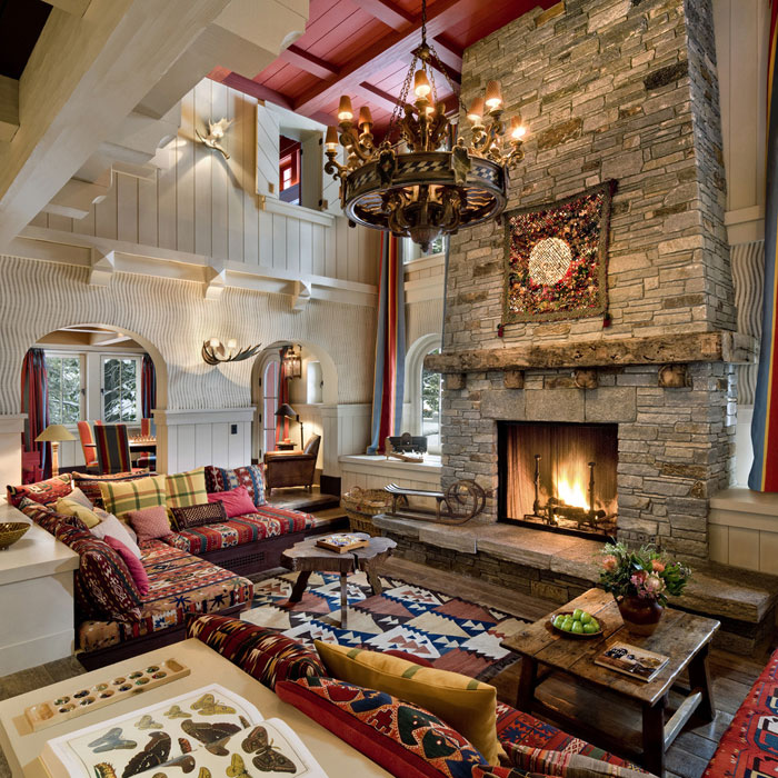 64856160292 The beautiful interior of rustic living rooms
