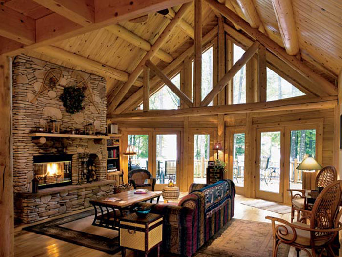 64856136099 The beautiful interior of rustic living rooms