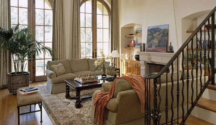 64856190376 The beautiful interior of rustic living rooms
