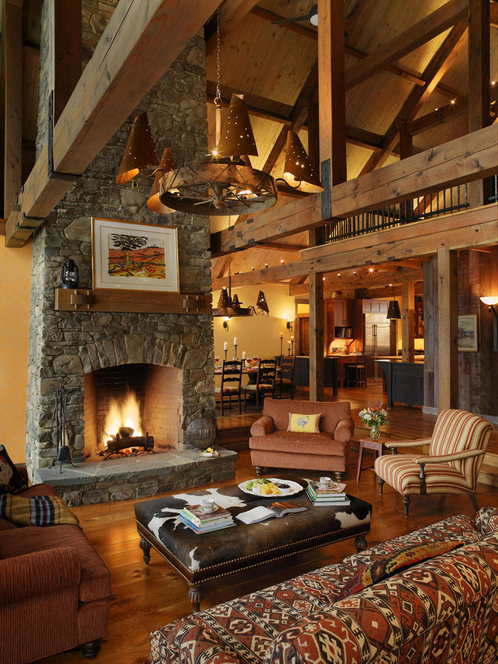 64856118292 The beautiful interior of rustic living rooms