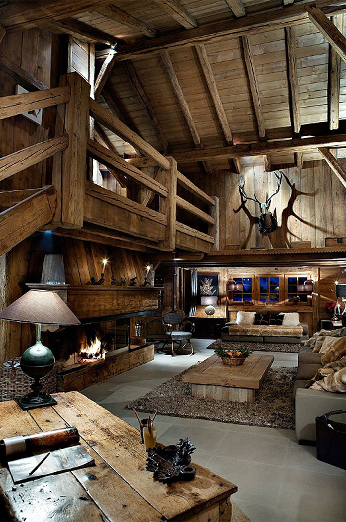 64856089217 The beautiful interior of rustic living rooms