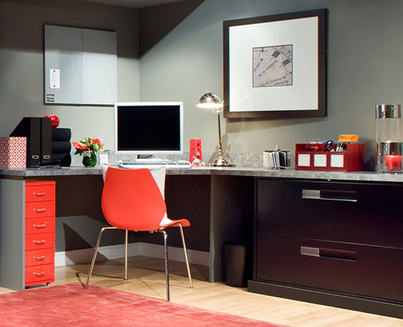 c6 Simple and elegant office furnishings with modern influences