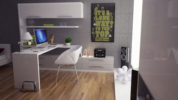 c20 Simple and elegant office furniture with modern influences