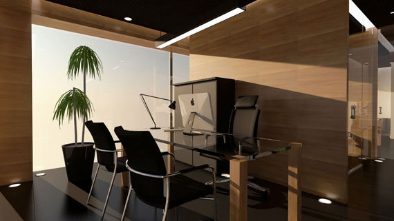 c19 Simple and elegant office furniture with modern influences