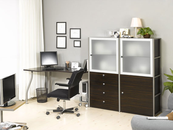 c23 Simple and elegant office furnishings with modern influences