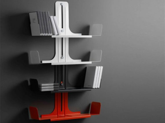 f8 Interesting floating bookshelves that would look great on your walls