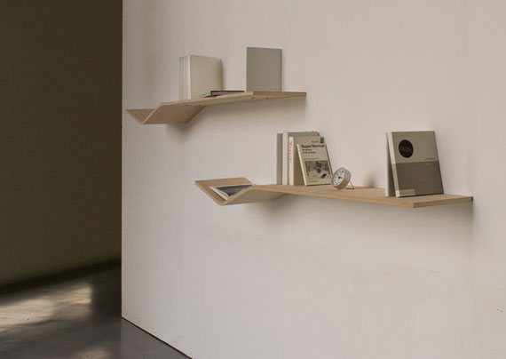 f24 Interesting floating bookshelves that would look great on your walls