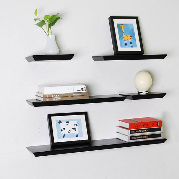 f18 Interesting floating bookshelves that would look great on your walls