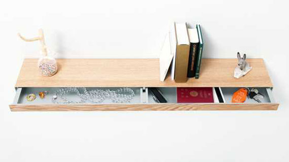 f25 Interesting floating bookshelves that would look great on your walls