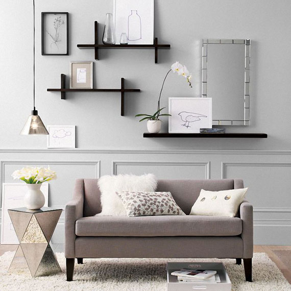 f17 Interesting floating bookshelves that would look great on your walls
