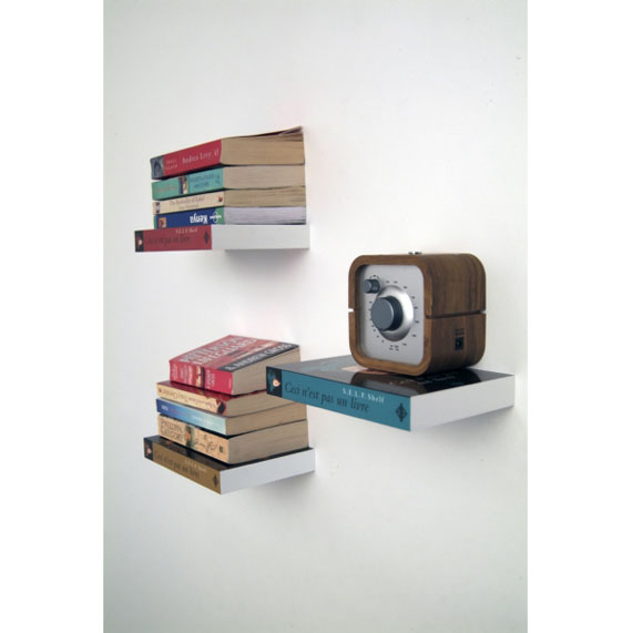 f32 Interesting floating bookshelves that would look great on your walls