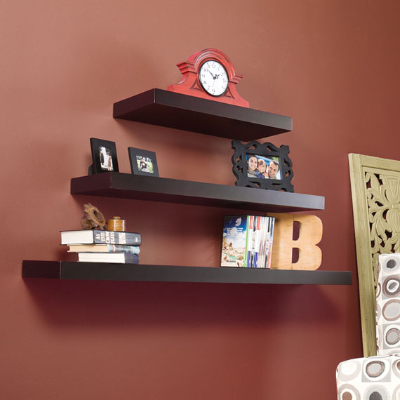 f36 Interesting floating bookshelves that would look great on your walls