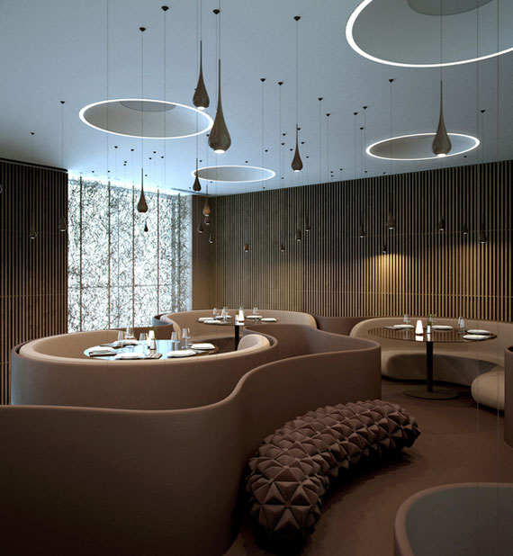 r32 Showcases for interior design of cafes and restaurants - 41 examples