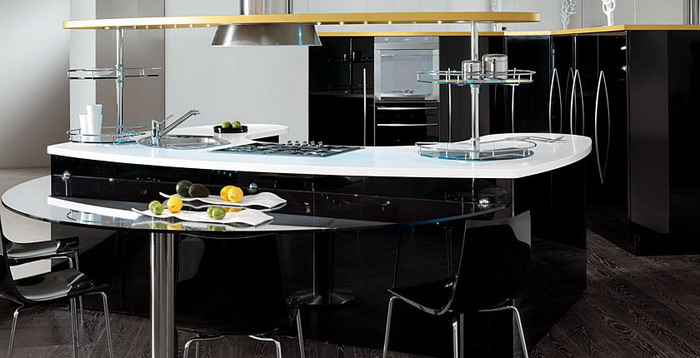 b3 The unexpected stylish look of black kitchen designs