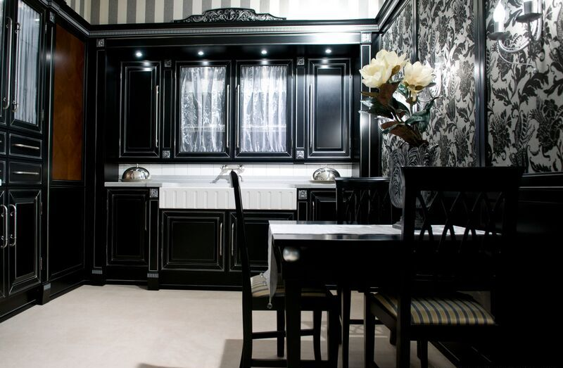 b4 The unexpected stylish look of black kitchen designs