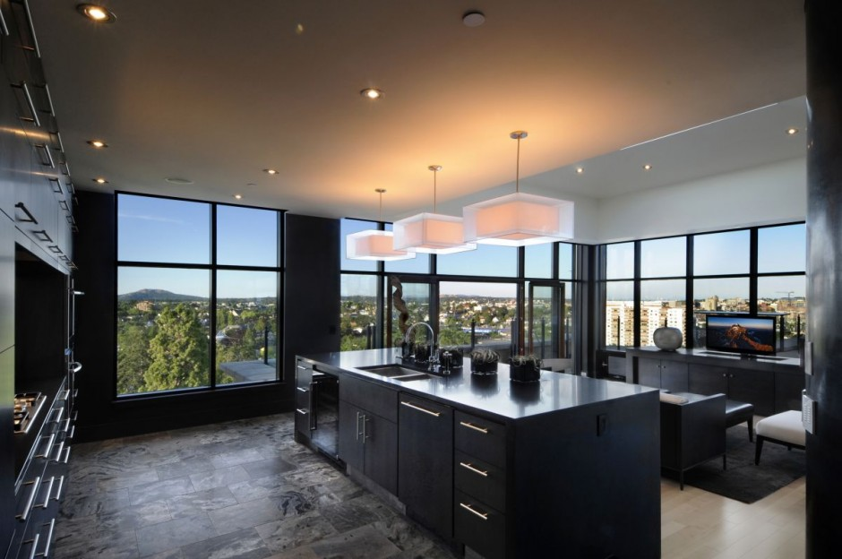 b7 The unexpected stylish look of black kitchen designs