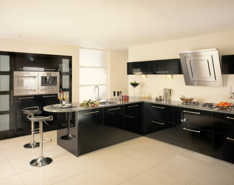 b6 The unexpected stylish look of black kitchen designs