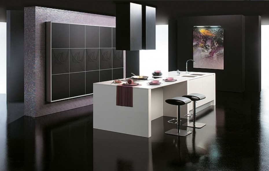 b10 The unexpected stylish look of black kitchen designs