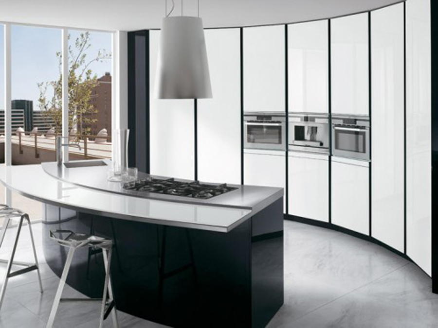 b5 The unexpected stylish look of black kitchen designs