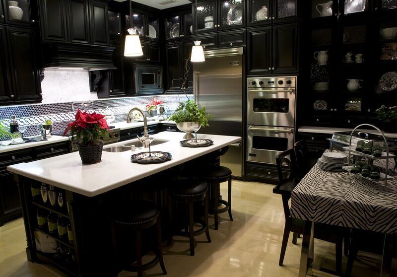 b20 The unexpected stylish look of black kitchen designs