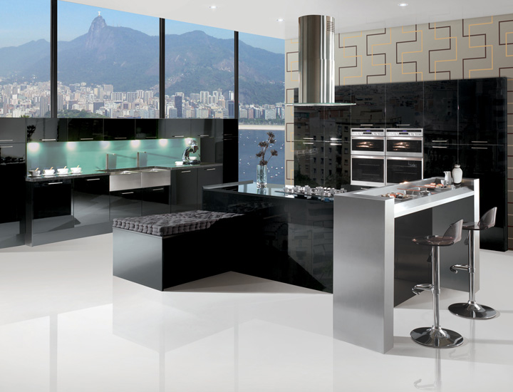b16 The unexpected stylish look of black kitchen designs