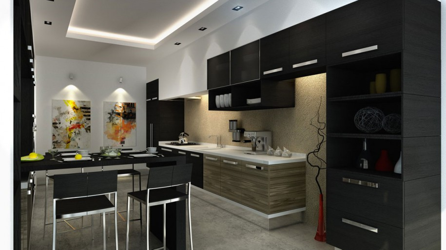 b26 The unexpected stylish look of black kitchen designs