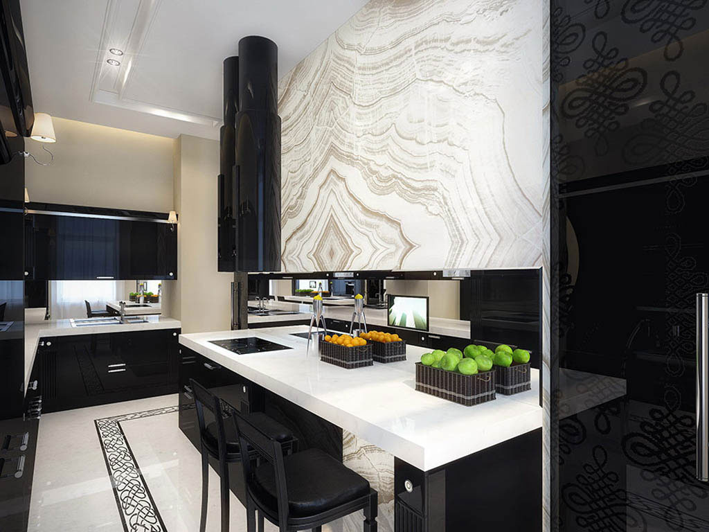 b28 The unexpected stylish look of black kitchen designs