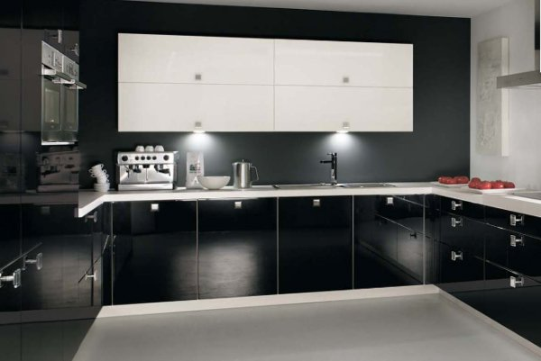 b24 The unexpected stylish look of black kitchen designs