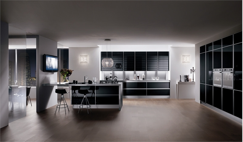 b31 The unexpected stylish look of black kitchen designs