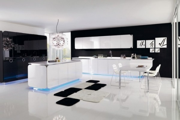 b25 The unexpected stylish look of black kitchen designs