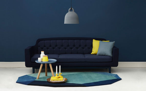 b27 Examples of living rooms decorated in blue