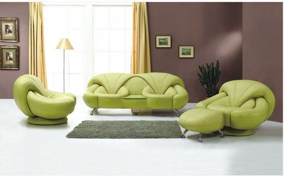 g8 Green Living Room Design Ideas: Decorations and Furniture