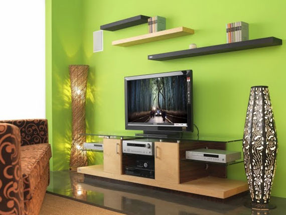 g9 Green Living Room Design Ideas: Decorations and Furniture