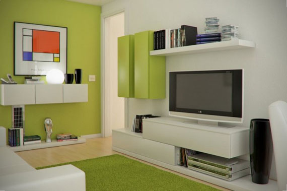 g2 Green Living Room Design Ideas: Decorations and Furniture