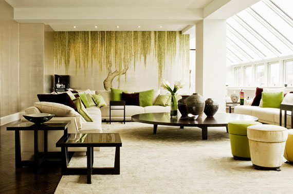 g10 Green Living Room Design Ideas: Decorations and Furniture