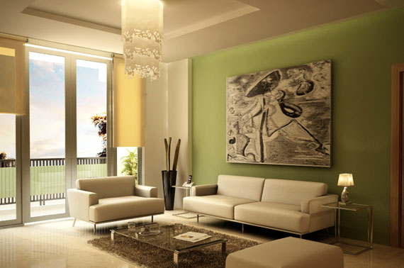 g13 Green Living Room Design Ideas: Decorations and Furniture