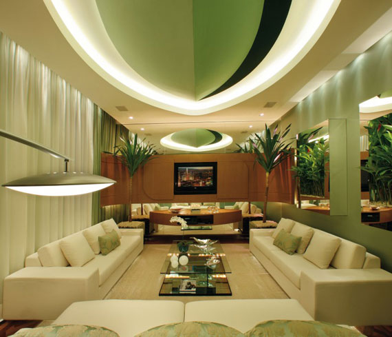 g15 Green Living Room Design Ideas: Decorations and Furniture