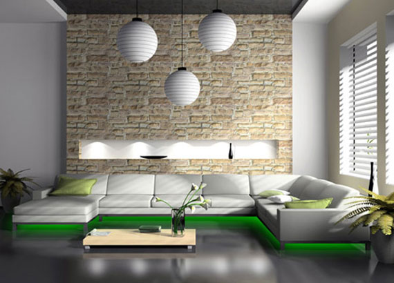 g12 Green Living Room Design Ideas: Decorations and Furniture
